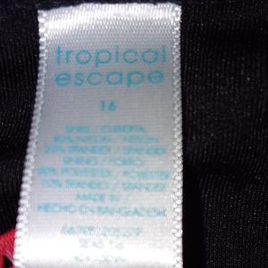 Tropical Escape Swim - Tropical Escapes Floral One Piece Swimwear Sz 16
